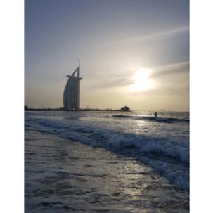 Haartransplantatie kliniek Dubai Burj Khalifa vanaf kust
