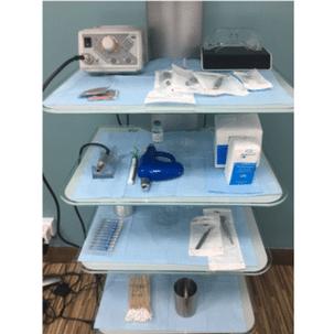 Haartransplantatie kliniek instrumenten